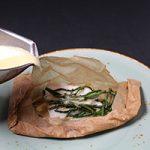 Tongschar en papillotte met Cava beurre blanc