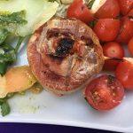 BBQ varkenshaasje met zongedroogd tomaatje