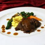 Hereford rundersukade in Madeirasaus met puree